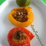 Pomodori, zucchine e peperoni ripieni