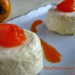 Bavarese alla vaniglia con salsa di cachi