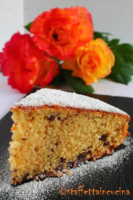 torta di marzapane e cioccolato