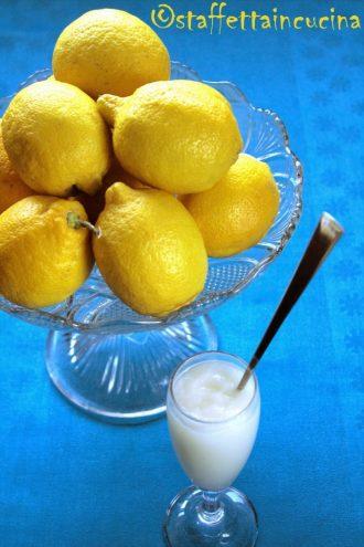 sorbetto di limone e zenzero