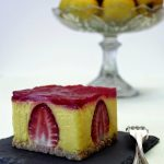 Cheesecake al lemon curd e fragole
