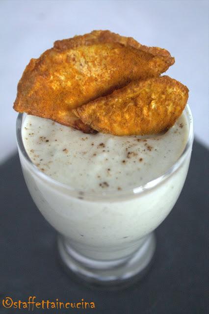 spuma di sogliola e chips di sedano rapa