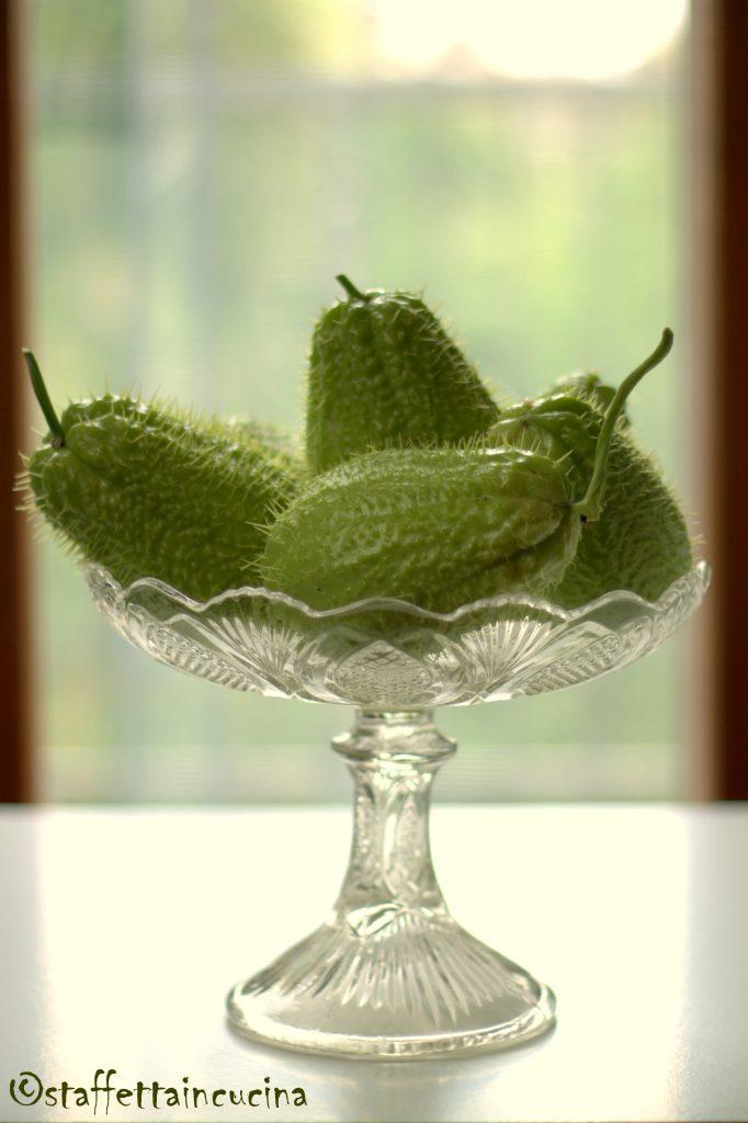 gamberi salatati con verdurine