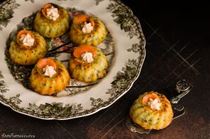 Muffin salati alle verdure con spuma di trota