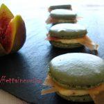 Macarons salati prosciutto e fichi