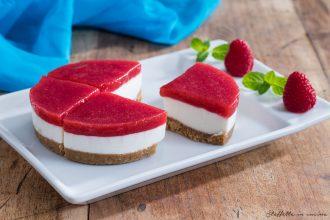 cheesecake senza cottura ai lamponi