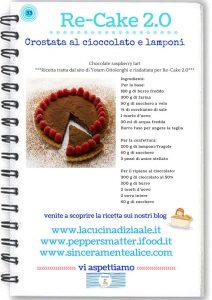 Re-cake - crostata cioccolato e lamponi di Ottolenghi