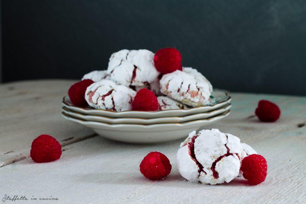 crinkle cookies al lampone