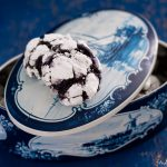 Crinkle cookies ai mirtilli