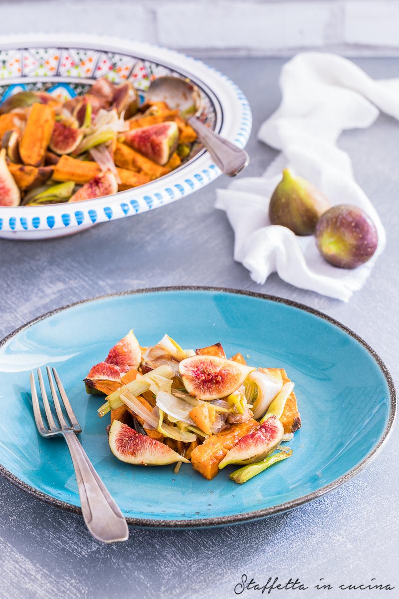 patate dolci arrosto con fichi freschi