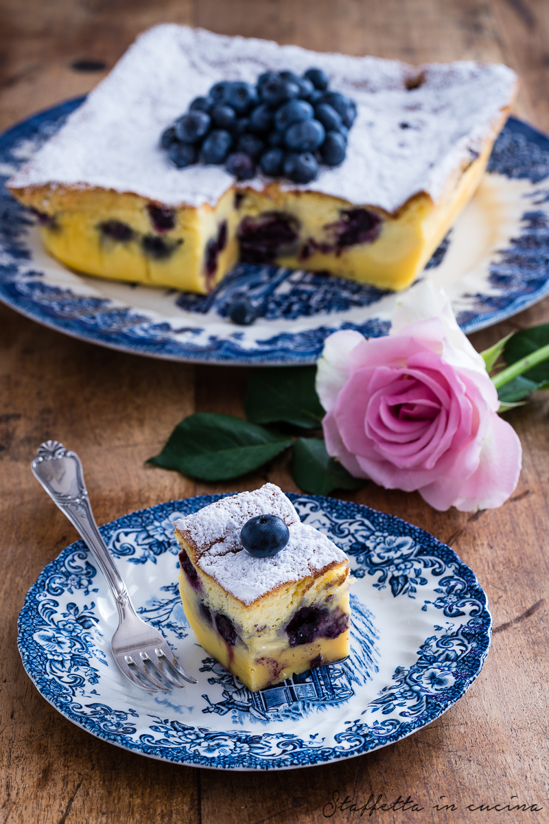 torta magica ai mirtilli