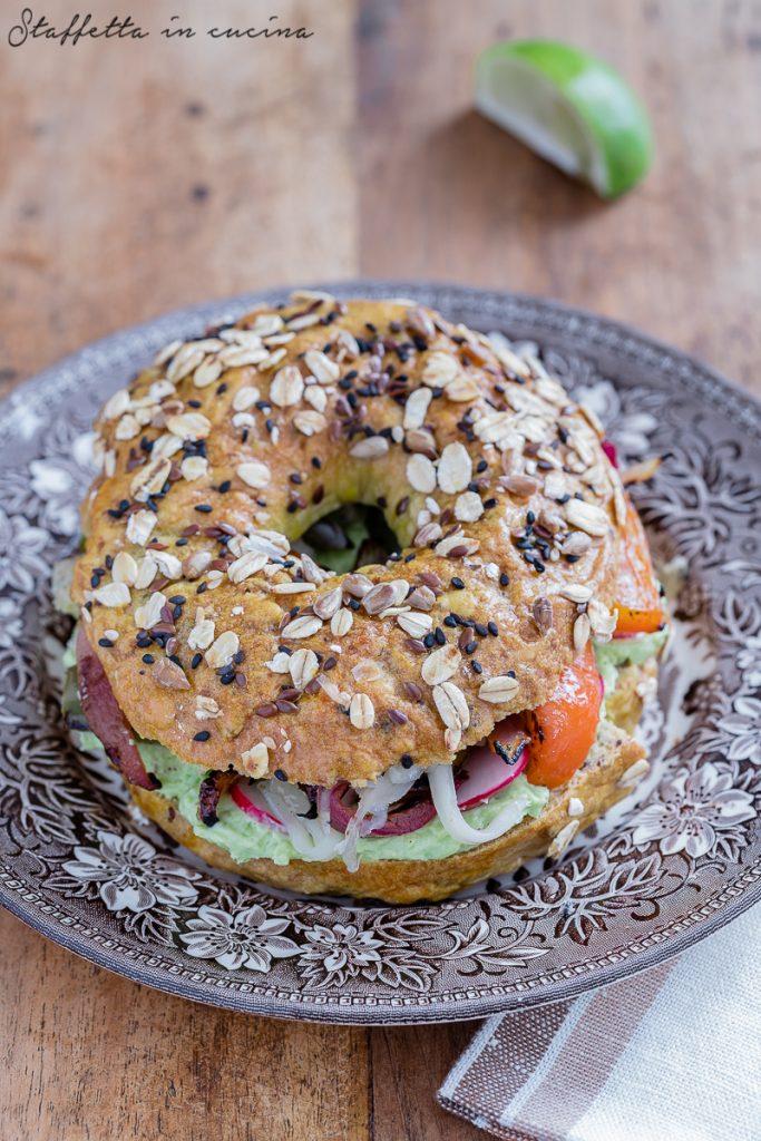 bagel vegetariani ai peperoni