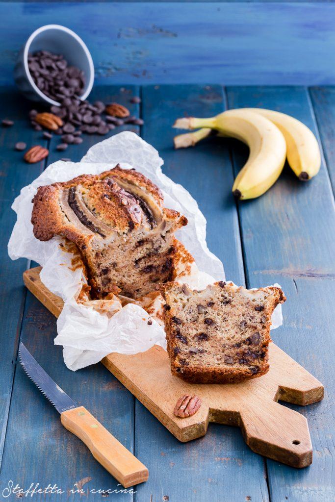 banana bread pecan e cioccolato