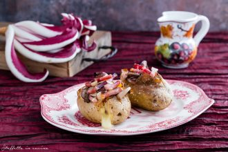 jacket potatoes con radicchio