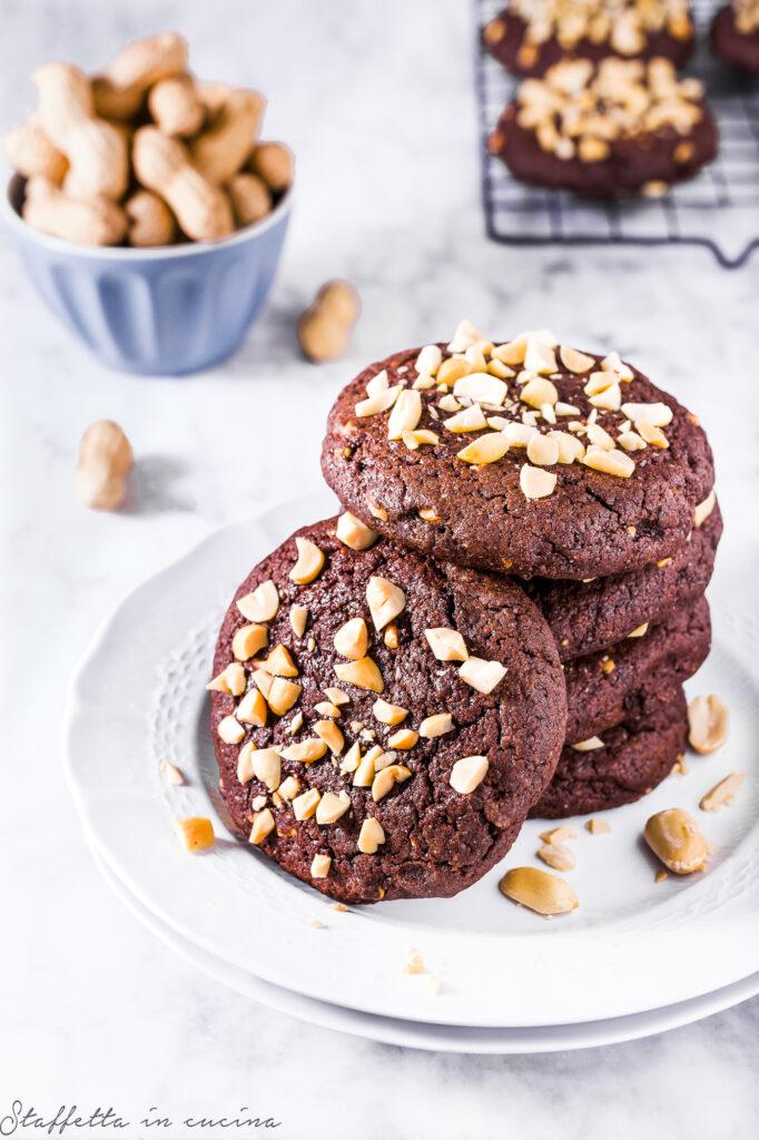 biscottoni al burro d'arachidi e cacao