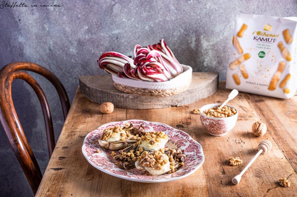 radicchio al forno e gorgonzola